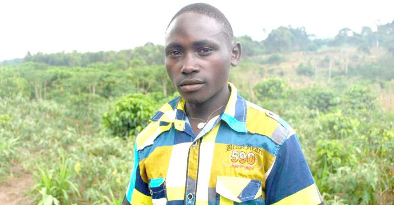 Determined. Lubega eyes to become a prominent passion fruit farmer.