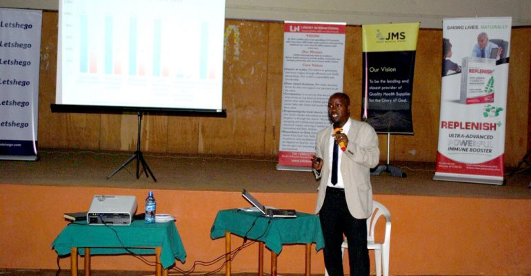 Mr Rugambwa speaking about economic empowerment,one of the services offered by the organisation