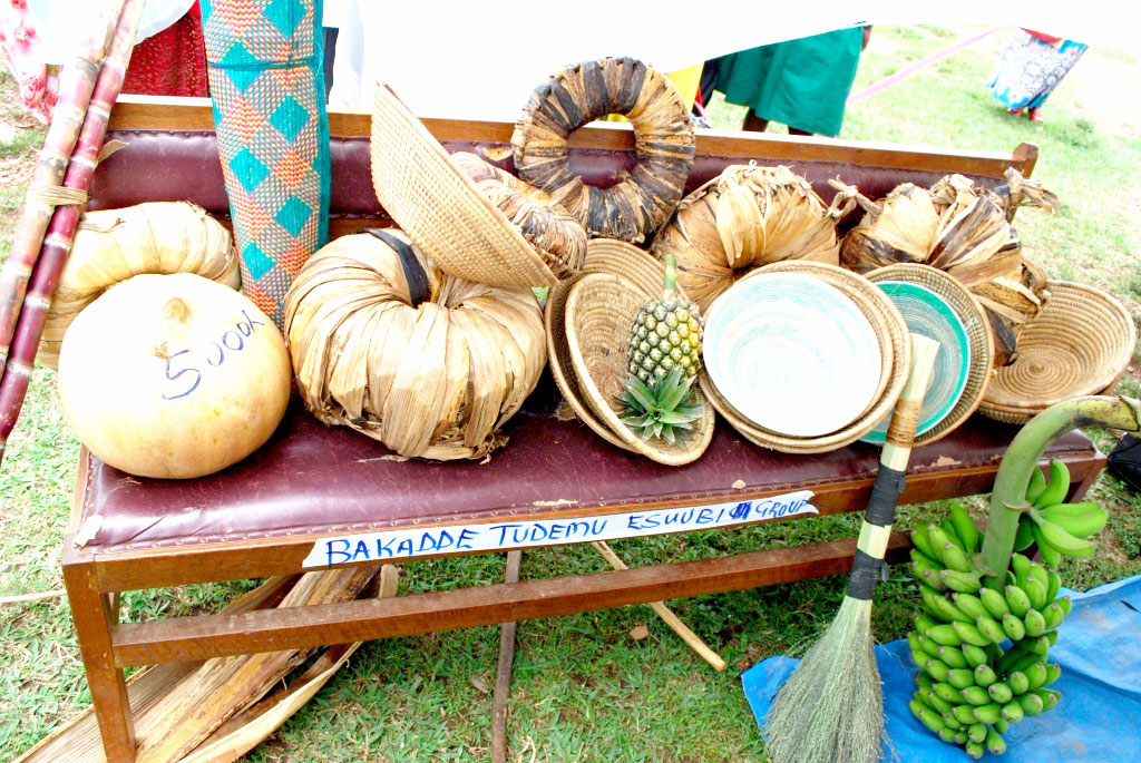 Some of the craft work done by members of Bakadde tudemu esuubi groups.