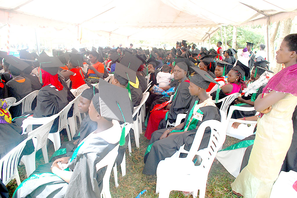 Some of the graduands from the various Rakai District safe spaces.