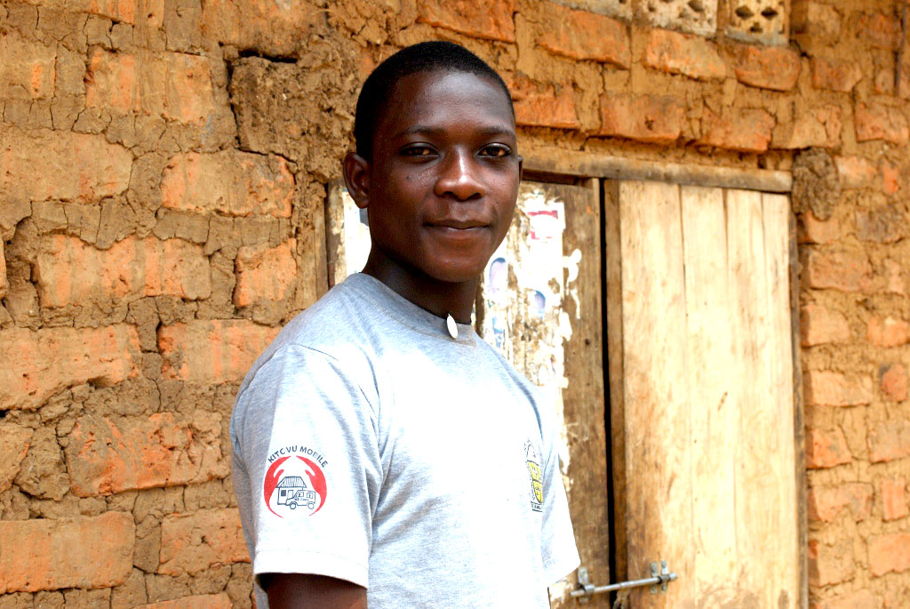 Emmanuel Sebyoto,the young farmer who has made fortunes from the skills he gained from Farm School.