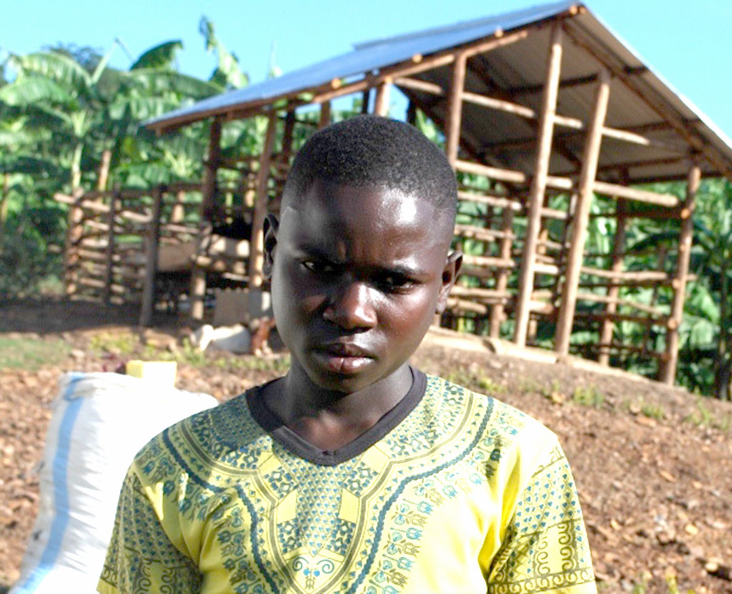 Lwebuga,the teen who eyes becominga the best farmer at his village