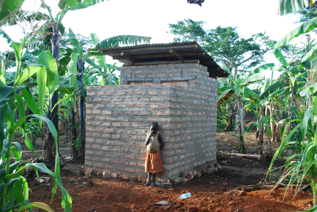 The improved pit latrine which was also constructed by Kitovu Mobile.
