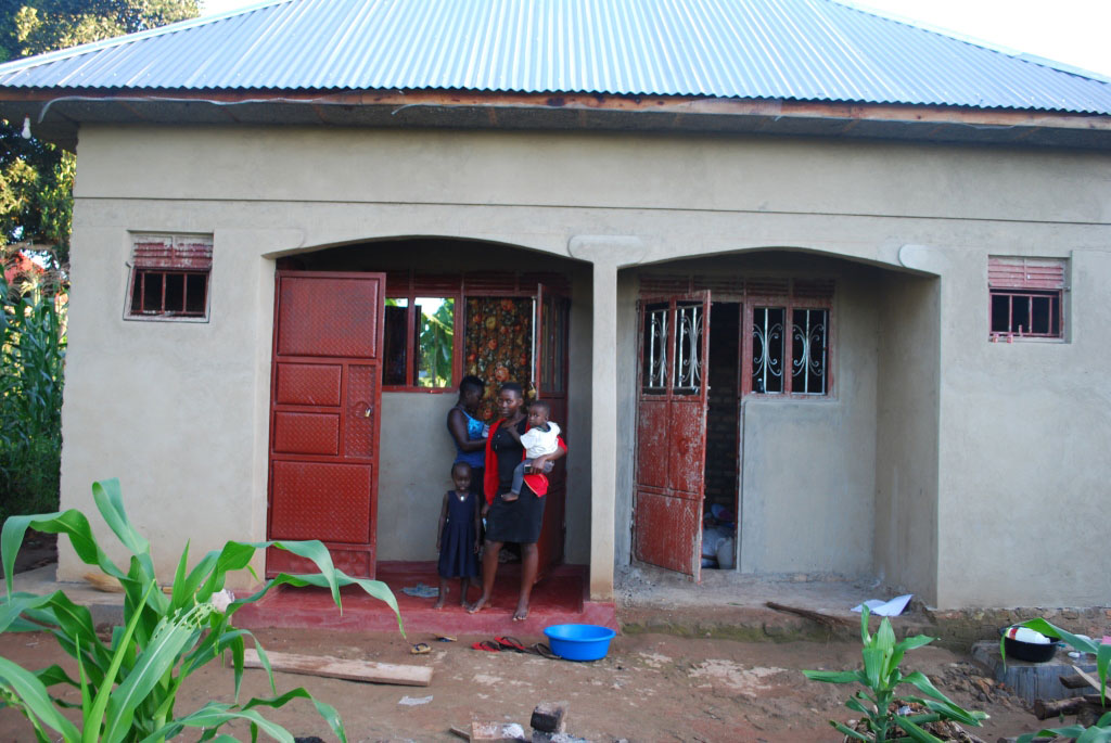 Ms Byonanebye's house in Kyotera town. She says through the earnings from bakery and her data entrant job,she was able to contribute towards the building of their house.