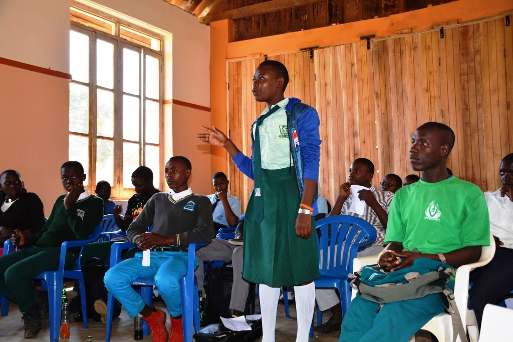 A student makes a clarification regarding courses. Photo by Moses Muwulya