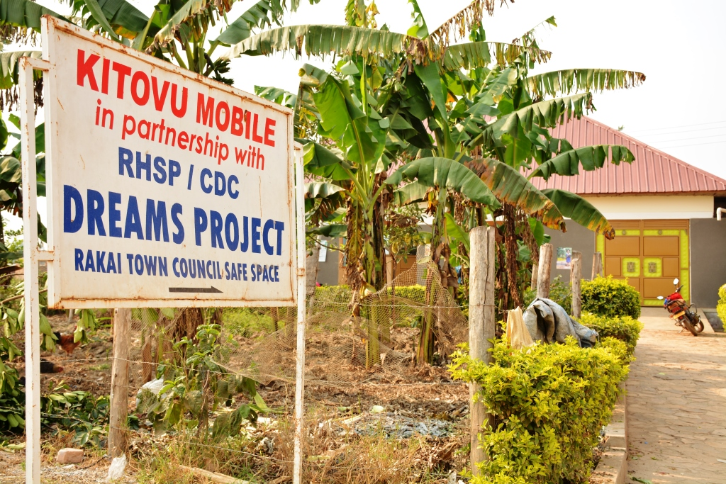 Rakai Town Council Modal safe space. It is one of the 60 safe spaces run by Kitovu Mobile