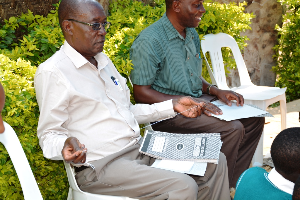 Mr Bagarukayo takes part in Counter Books skills on training.