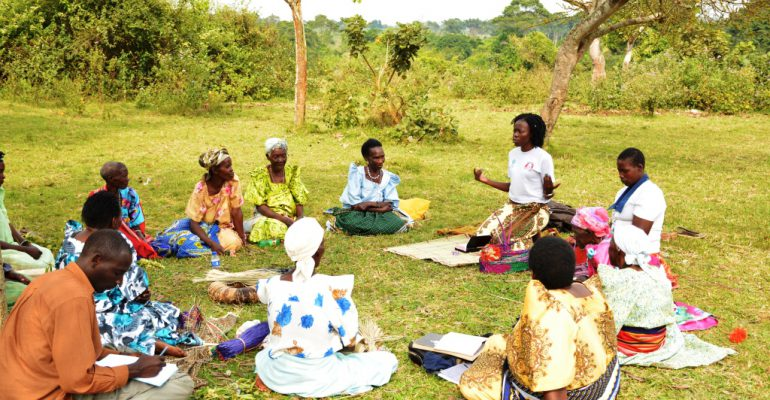 Project counsellor,Rachael Nakasango (in White T-shirt) conducting a counselling session which she does with utmost empathy.